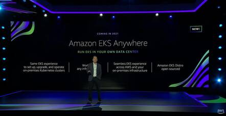 AWS CEO (now Amazon CEO) Andy Jassy presents EKS Anywhere at re:Invent 2020