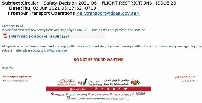 An example of the aviation-themed phishing campaign seen by Cisco Talos