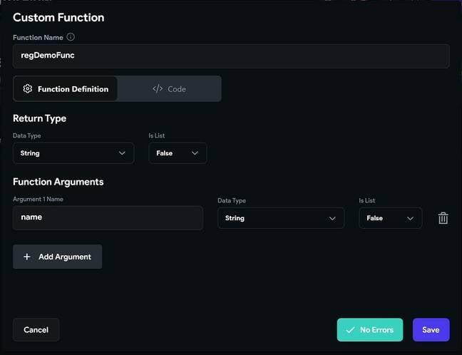 Developing a custom function in FlutterFlow