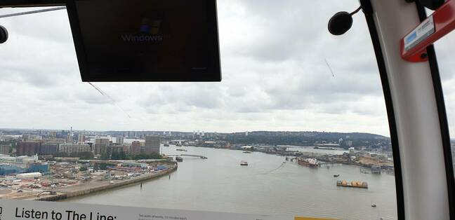 Windows XP in a cable car