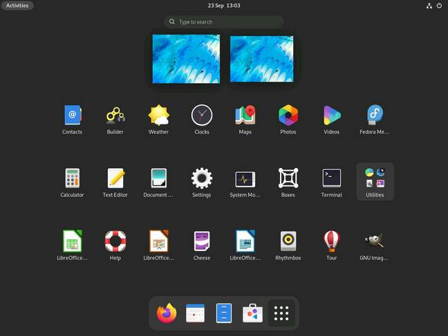 Launching software in GNOME 41