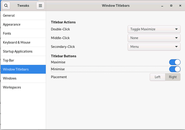 GNOME Tweaks offers a way to restore minimize and maximize icons to windows