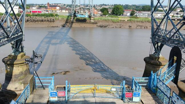 The River Usk at low tide. Narrow, muddy and dangerous are the best words to describe it