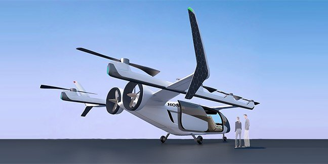 Honda electric vertical take-off and landing aircraft concept