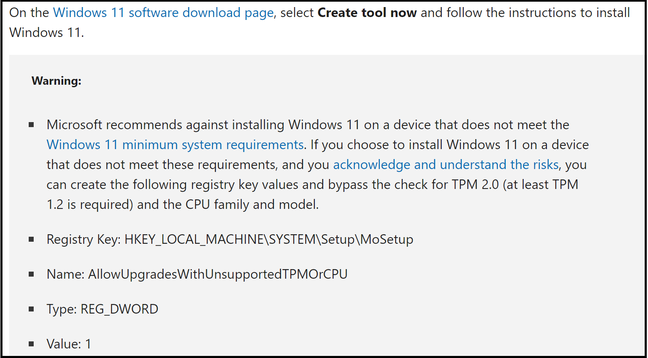 How to bypass Windows 11 system requirements