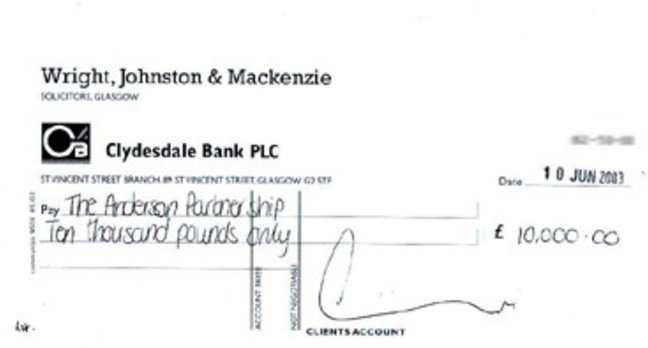 Lawscot cheque 15.6.03