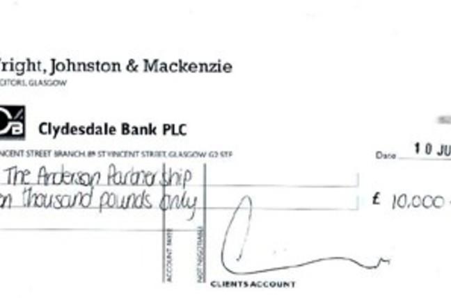 Lawscot cheque 15.6.03