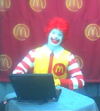 Ronald McDonald goes Centrino