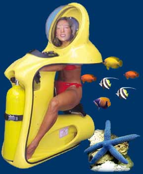 The Scuba-Doo underwater scooter
